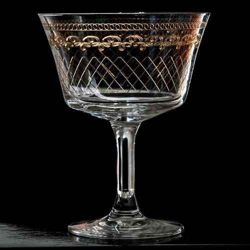 Retro Fizz 1910 Gold Cocktailglas 20cl