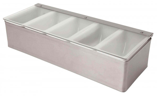 Stainless Steel Condiment Holder 5 Compartment