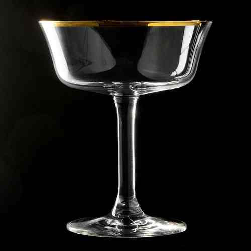 Retro Fizzio Gold Rim Coupe Glass 26cl