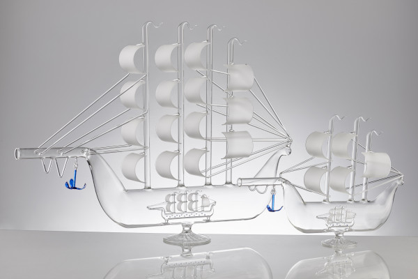 ART SHIP DECANTER DOUBLE 0,5 L