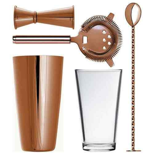 Roségold Boston Cocktail Shaker Set