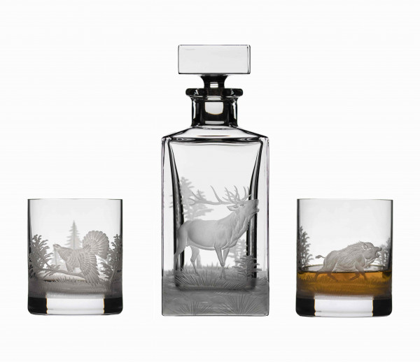 HUNTER DECANTER & 2 GLASSES SET